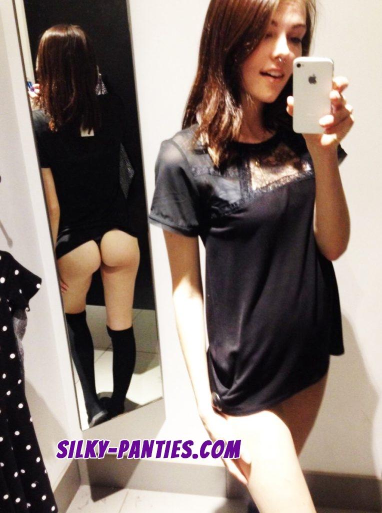 Naughty selfie shows teen girl's hot ass