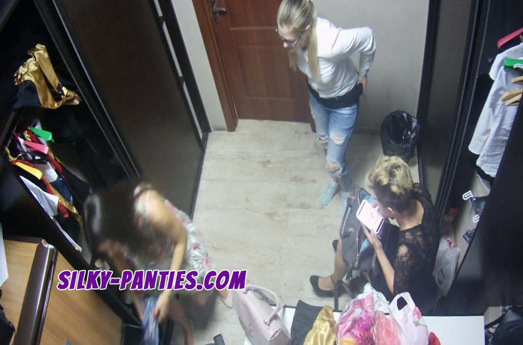 Three different waitresses caught by a hidden camera